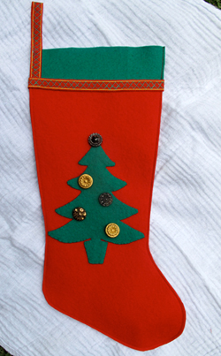 Home-made Christmas stocking